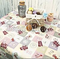 Лляна скатертина р. 120*150 на кухонний стіл N-478