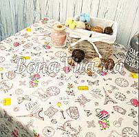 Лляна скатертина р. 120*150 на кухонний стіл N-479