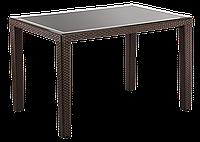 Стол Tilia Antares 80x120 см верх столешницы из стекла, ножки пластиковые венге