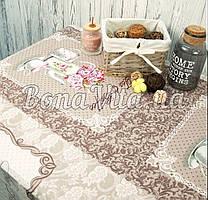 Лляна скатертина р. 120*150 на кухонний стіл N-480