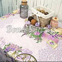 Лляна скатертина р. 120*150 на кухонний стіл N-481