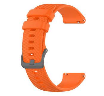 Силіконовий ремінець Primolux для смарт-годинника Garmin Vivoactive 4S - Orange