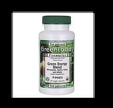 Swanson GreenFoods Formulas USA Свансон Смесь зеленой энергии США 60 капсул