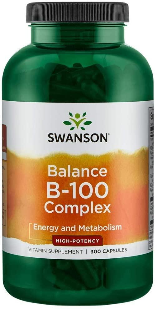 Swanson Balance B-100 Complex - High Potency, Комплекс витаминов группы B (300 капс.)