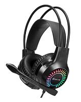 Игровые геймерские наушники для ПК накладные с микрофоном и подсветкой XTRIKE ME Gaming RGB GH-709 Черные