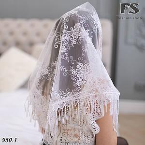 Свадебный белый платок Мила