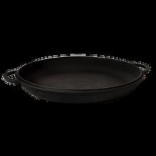Чугунная крышка-сковорода диаметром 34 см.