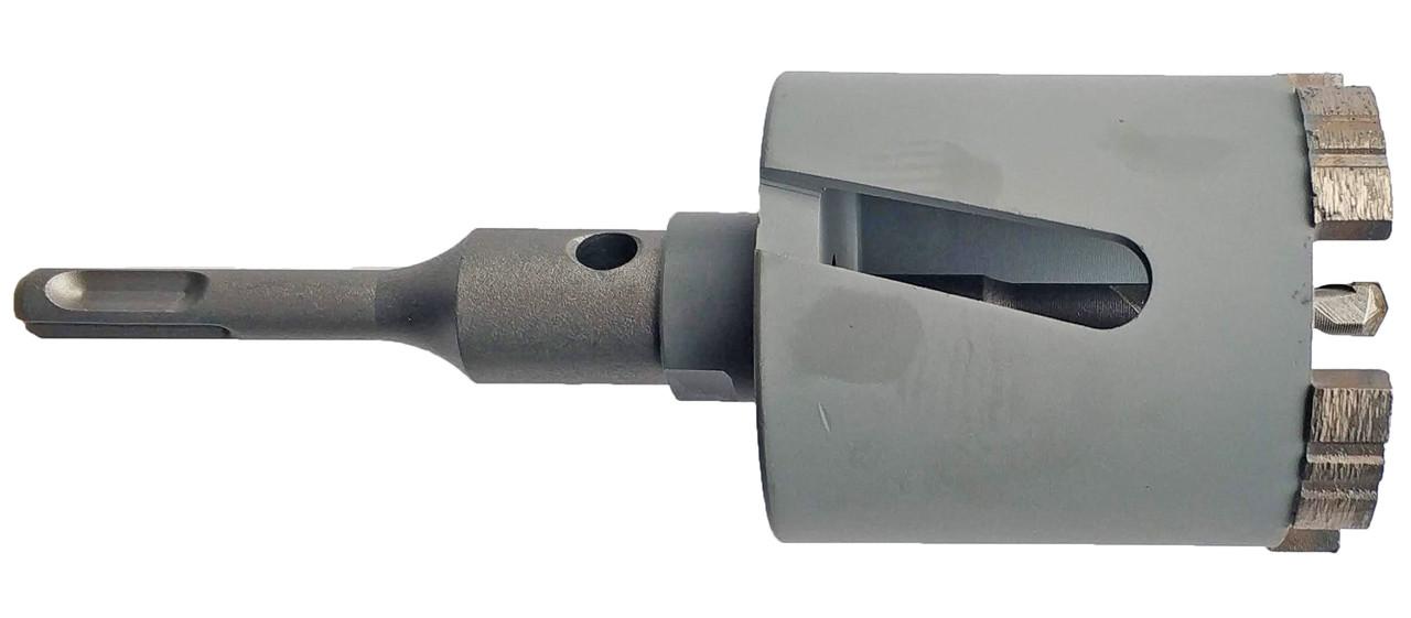 172 Коронка Craft  алмазна turbo segment, Ø 72 мм, з хвостовиком та свердлом SDS Бетон 5 сегменти