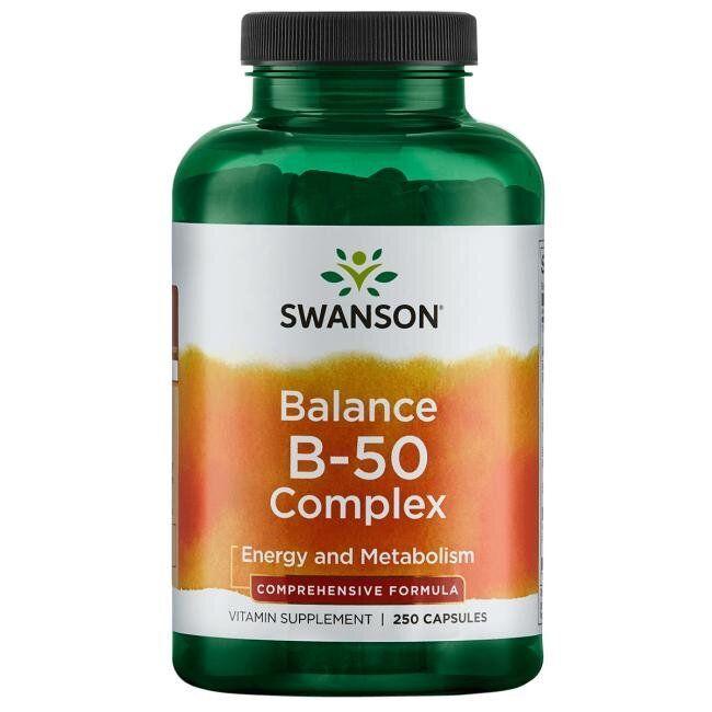 Swanson Balance B-50 Complex - High Potency, Комплекс вітамінів групи B (250 капс.)