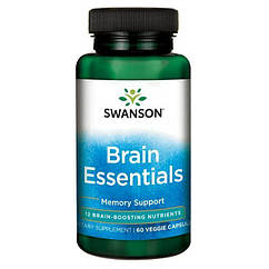 Swanson Brain Essentials, Вітаміни для мозку (60 капс.)
