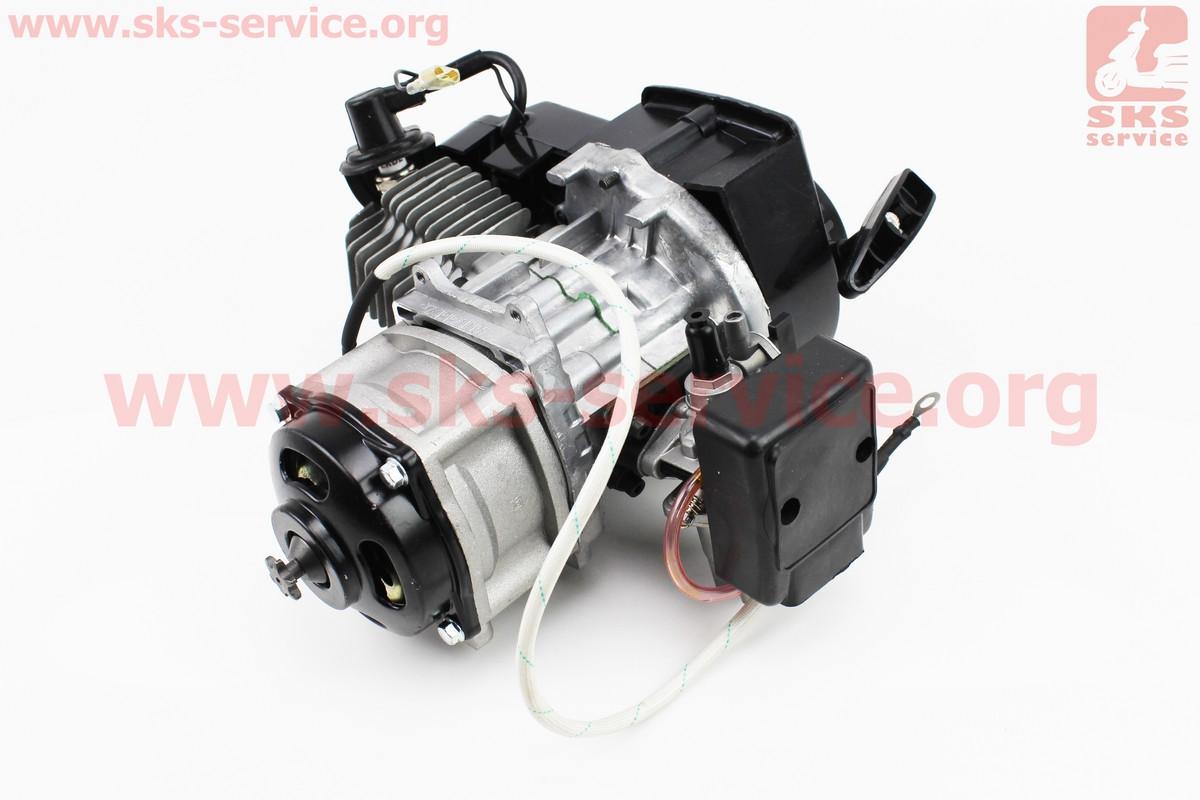 Двигатель для детского квадроцикла, минибайка с ЭЛЕКТРОСТАРТЕРОМ, 2Т 50сс