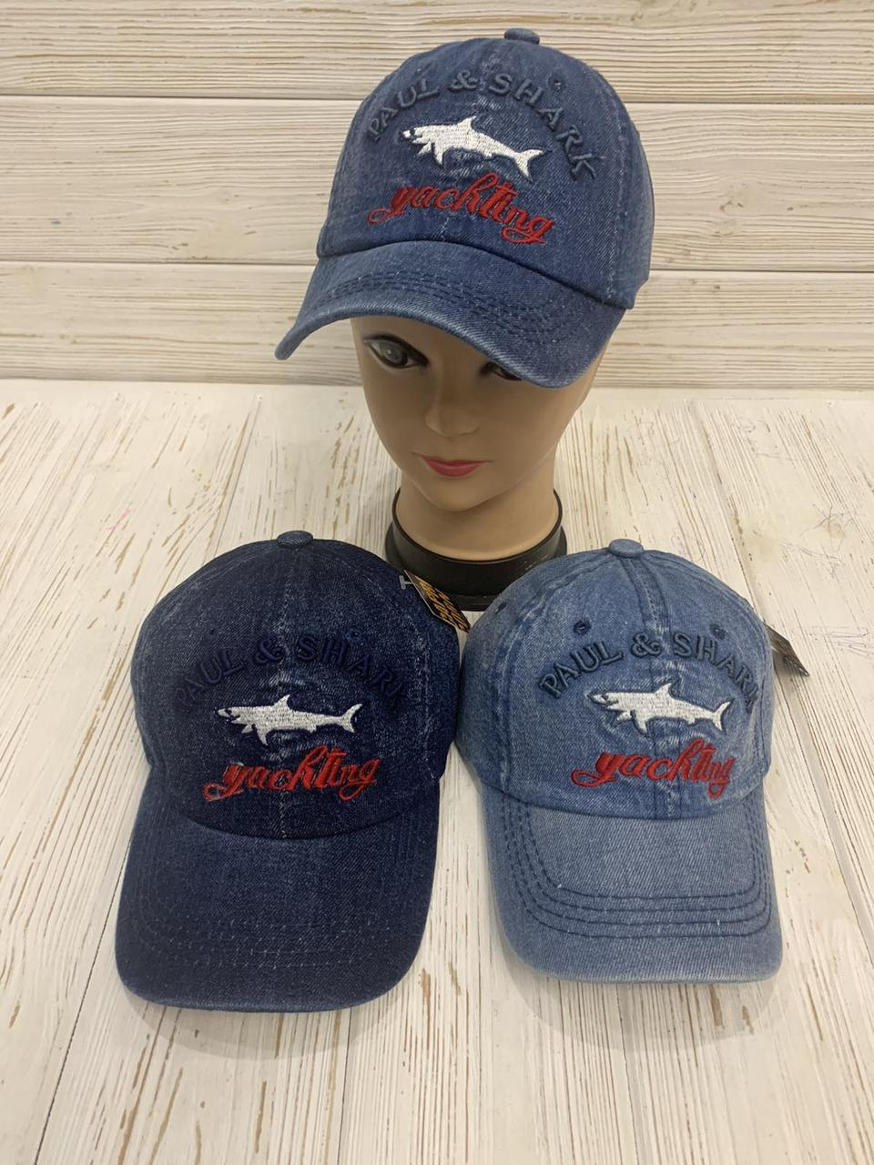 """Кепка детская для мальчика джинсовая """"Shark"""" 54-55 см Цвет указывайте при заказе"""