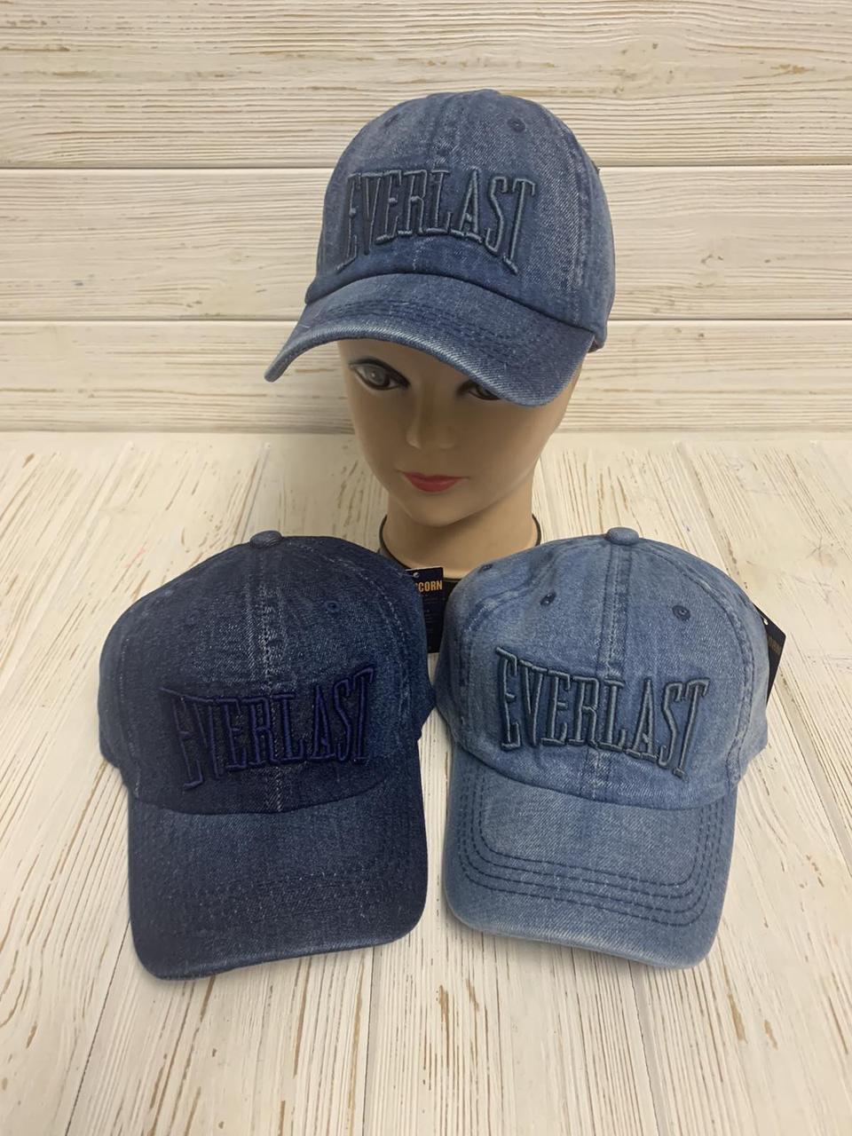 """Кепка дитяча для хлопчика джинсова """"Everlast"""" 54-55 см Колір вказуйте при замовленні"""