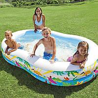 Детский надувной бассейн Intex 56490 «Райская Лагуна», 262х160х46 см, объем 640 л