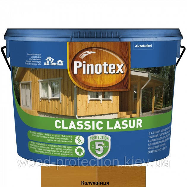 Pinotex Classic Lasur засіб для захисту дерева калюжниця 10л