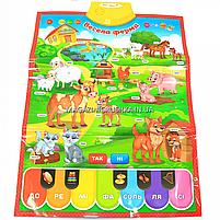 Детский обучающий плакат «Країна іграшок» ферма, укр яз, буквы, цифры, цвета, 45х60 см, PL-719-25, фото 4