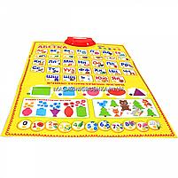 Дитячий навчальний плакат «Країна іграшок», Абетка Українська, літери, цифри, вірші, кольору, 45х60 см, PL-719-28, фото 2