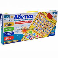 Дитячий навчальний плакат «Країна іграшок», Абетка Українська, літери, цифри, вірші, кольору, 45х60 см, PL-719-28, фото 3