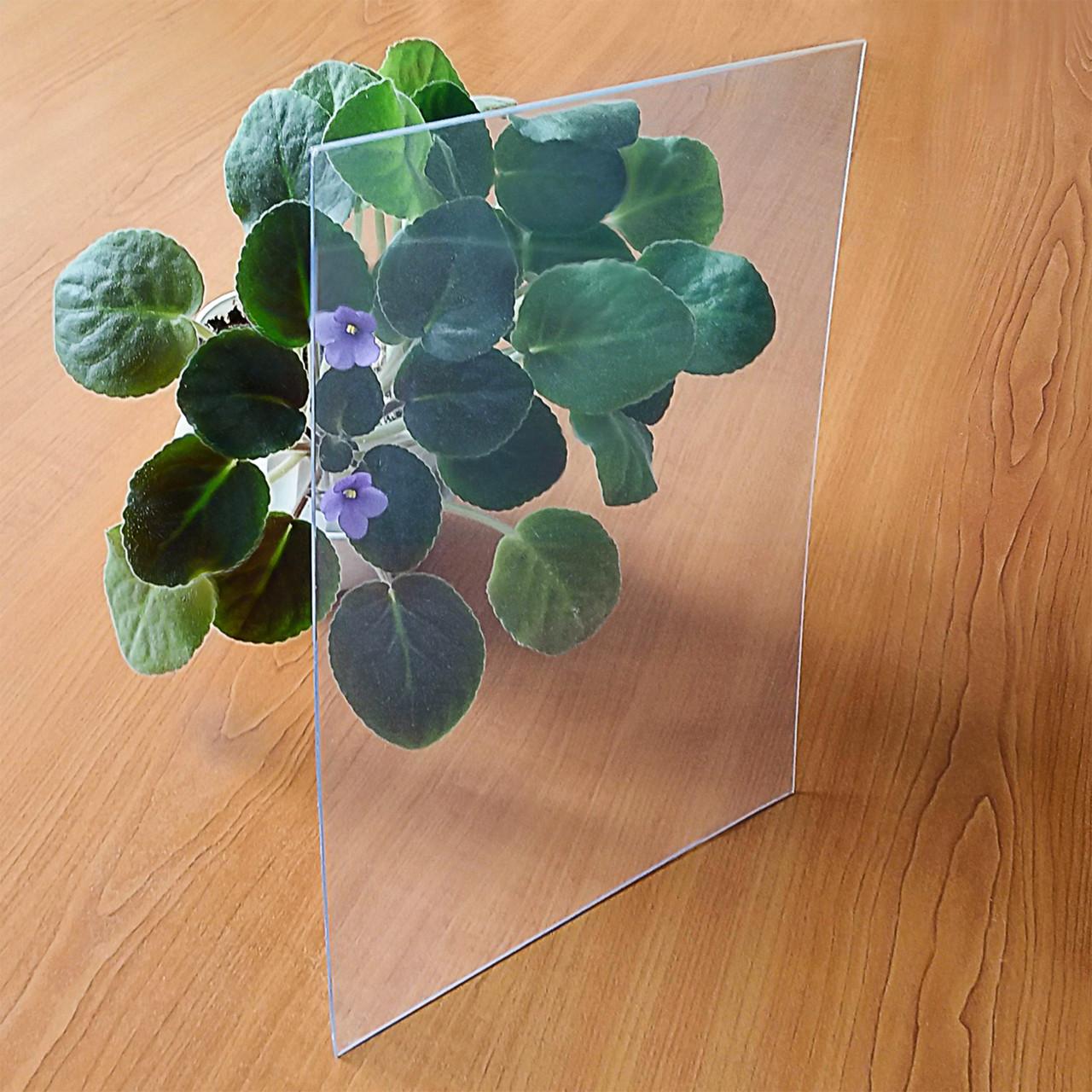 ПВХ твердый прозрачный, лист 1 x 2 м, 0.8 мм