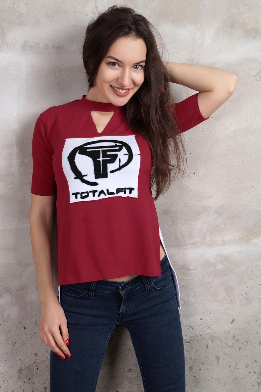 Футболка Totalfit D4-C37 L марсал