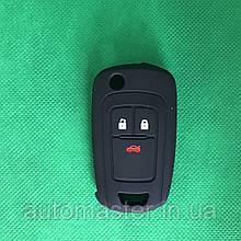 Чехол на корпус выкидного ключа для OPEL INSIGNIA (Опель Инсигния) 3 - кнопки