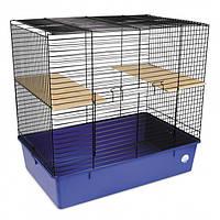 Клетка для грызунов Природа Шиншилла 69 x 66 x 45 см Чернаяя/синяя (4823082415090)