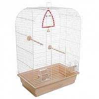 Клетка для птиц Природа Аурика 44 x 65 x 28 см Белая/бежевая (4823082415045)