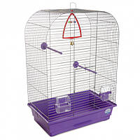 Клетка для птиц Природа Аурика 44 x 65 x 28 см Хром/фиолетовая (4823082414901)
