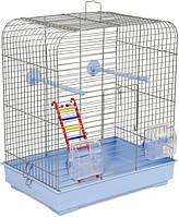 Клетка для птиц Природа Белла 37 х 25 х 37 см Светло-голубая хром (4823082414864)