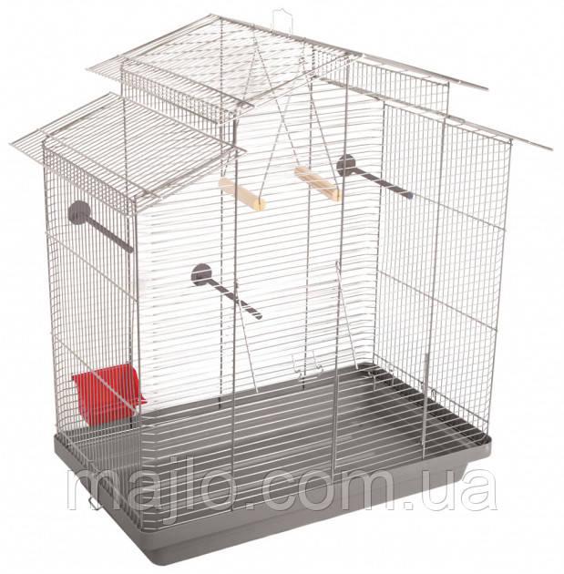 Клітка для птахів Природа Німфа 78 x 82 x 48 см Хром/сіра (4823082414703)