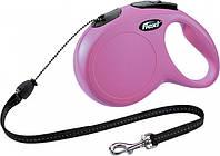 Поводок-рулетка Flexi New Classic до 20 кг 8 м Рожевий