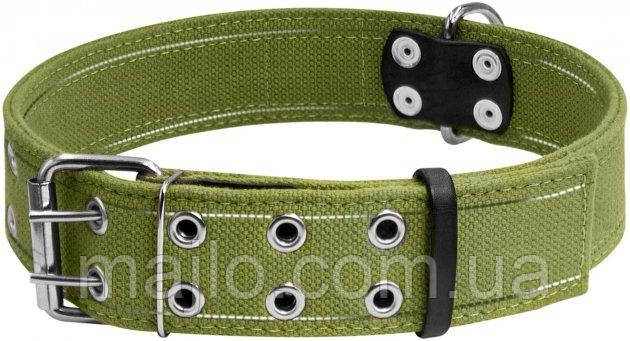 6139 Collar Ошийник подвійний х/б тасьма з світловідбиваючої ниткою 45 мм 56-71 см