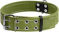 6139 Collar Ошийник подвійний х/б тасьма з світловідбиваючої ниткою 45 мм 56-71 см, фото 1