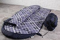 Широкий спальный мешок (камуфляжный спальник, до -2/+15