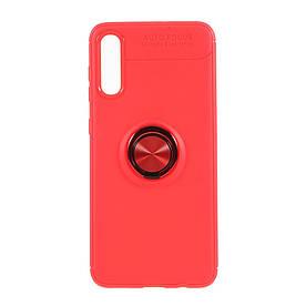 Чохол накладка для Samsung Galaxy A30S A307F силіконовий з магнітним кільцем, Червоний