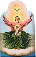 Комплект писанных икон: «Святая Троица»,«Господь Вседержитель» и т.д. (6 шт.)