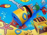"""Детский коврик 1350×500×5мм """"Подводный мир"""" теплый развивающий игровой коврик"""