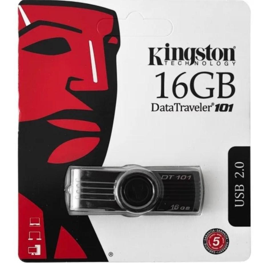 Флеш-накопичувач USB 16Gb Kingston DT101 Чорний