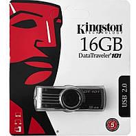 Флеш-накопичувач USB 16Gb Kingston DT101 Чорний, фото 1