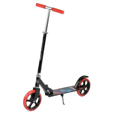 Двоколісний Самокат складаний Best Scooter 30458, з підніжкою , колеса 200 мм, гріпси гумові червоні,