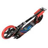 Двоколісний Самокат складаний Best Scooter 30458, з підніжкою , колеса 200 мм, гріпси гумові червоні,, фото 6