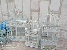 Клетки декоративные, металл 3 шт\набор h-14, 18, 21 cm, 290 грн