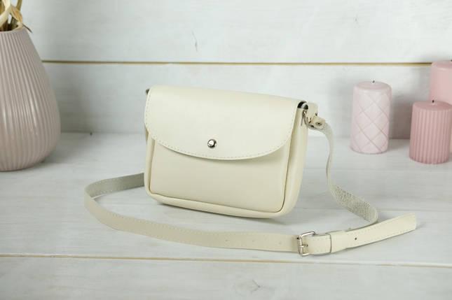 Сумка женская. Кожаная сумочка Мия, Гладкая кожа, цвет Кремовый, фото 2