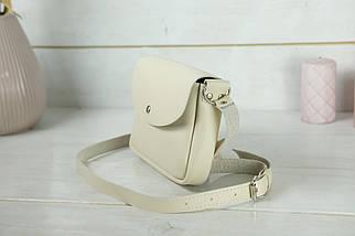 Сумка женская. Кожаная сумочка Мия, Гладкая кожа, цвет Кремовый, фото 3