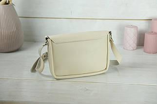 Сумка жіноча. Шкіряна сумочка Мія, Гладка шкіра, колір Бежевий, фото 2