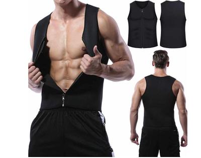 Мужской жилет для бега, для похудения, на молнии, неопрен Zipper Vest