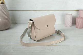 Женская кожаная сумка Мия, натуральная Гладкая кожа, цвет Пудра, фото 3
