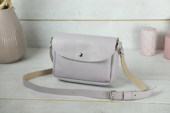 Сумка жіноча. Шкіряна сумочка Мія, Гладка шкіра, колір Бузковий, фото 2