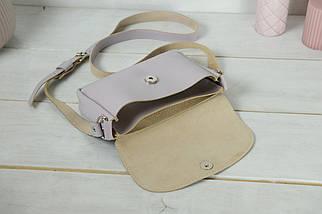 Сумка женская. Кожаная сумочка Мия, Гладкая кожа, цвет Сиреневый, фото 3
