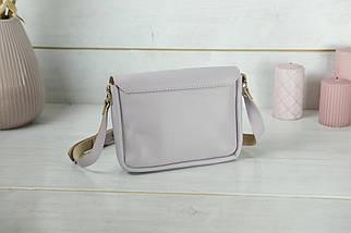 Сумка женская. Кожаная сумочка Мия, Гладкая кожа, цвет Сиреневый, фото 2